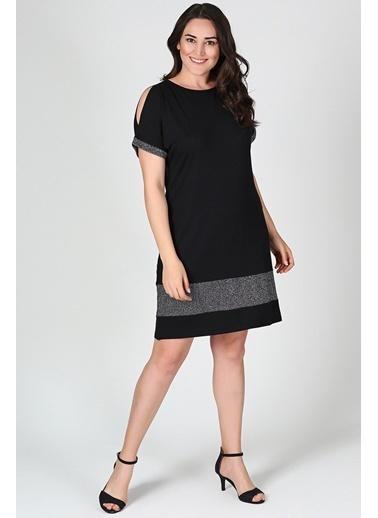 Womenice Elbise Siyah